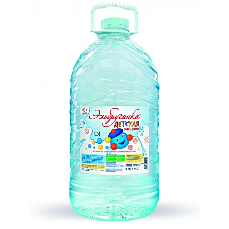 Вода питьевая Эльбрусинка Детская, 5л.