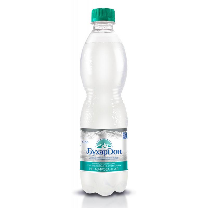 """Вода питьевая """"БухарДон"""" 0,5 Л ПЭТ не газ"""