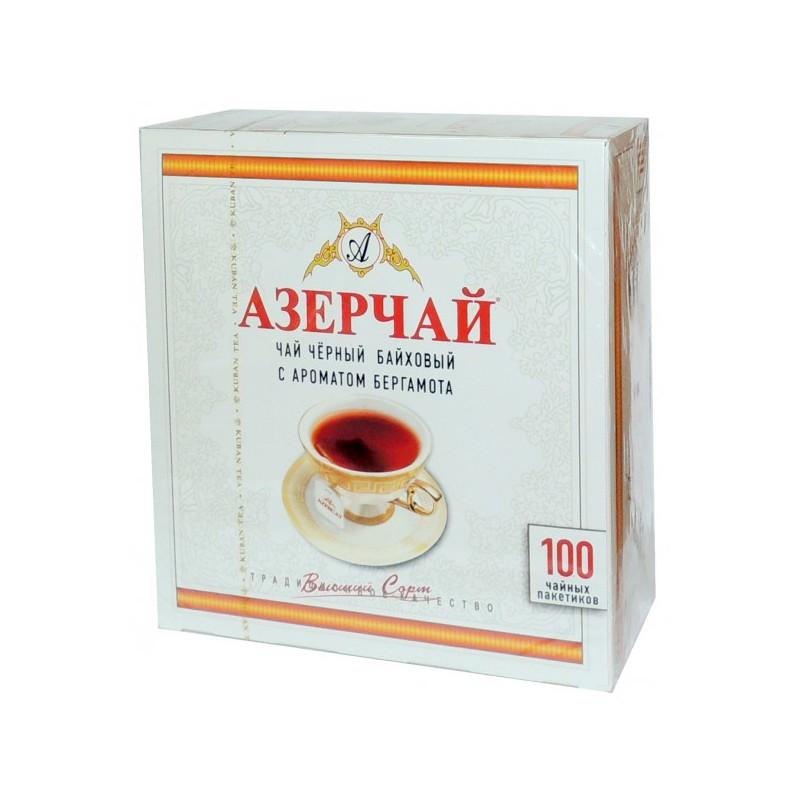 """Чай """"Азерчай"""" черный с бергамотом, 100 пак"""